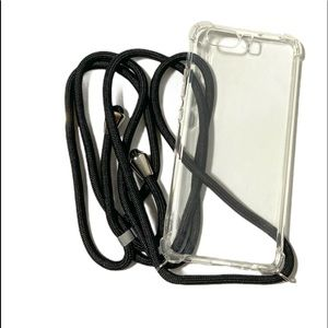 Phone Case Huawei P10 Silicone Crossbody Clear